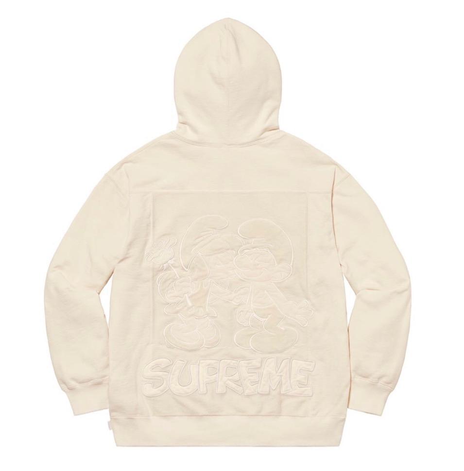 Supreme 2020fw week6 Supreme Smurfs Hooded Sweatshirt シュプリーム 2020年 秋冬 スマーフ スウェットシャツ white