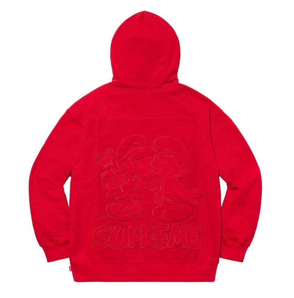 Supreme 2020fw week6 Supreme Smurfs Hooded Sweatshirt シュプリーム 2020年 秋冬 スマーフ スウェットシャツ red