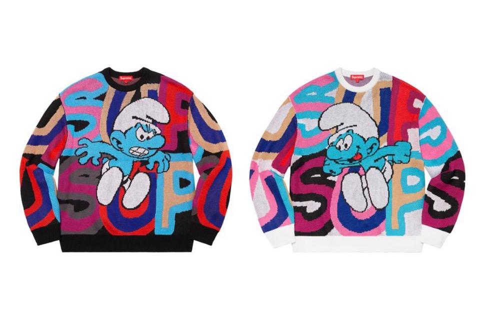 Supreme 2020fw week6 Supreme Smurfs Sweater シュプリーム 2020年 秋冬 スマーフ コラボ セーター
