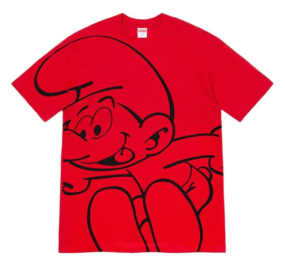 シュプリーム 2020年 秋冬 スマーフ コラボ TシャツSupreme 2020fw week7 Smurfs Tee