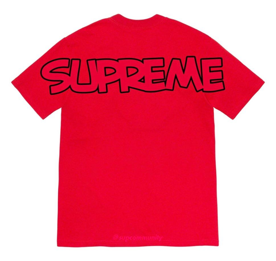 シュプリーム 2020年 秋冬 スマーフ コラボ TシャツSupreme 2020fw week7 Smurfs Tee Logo ロゴ