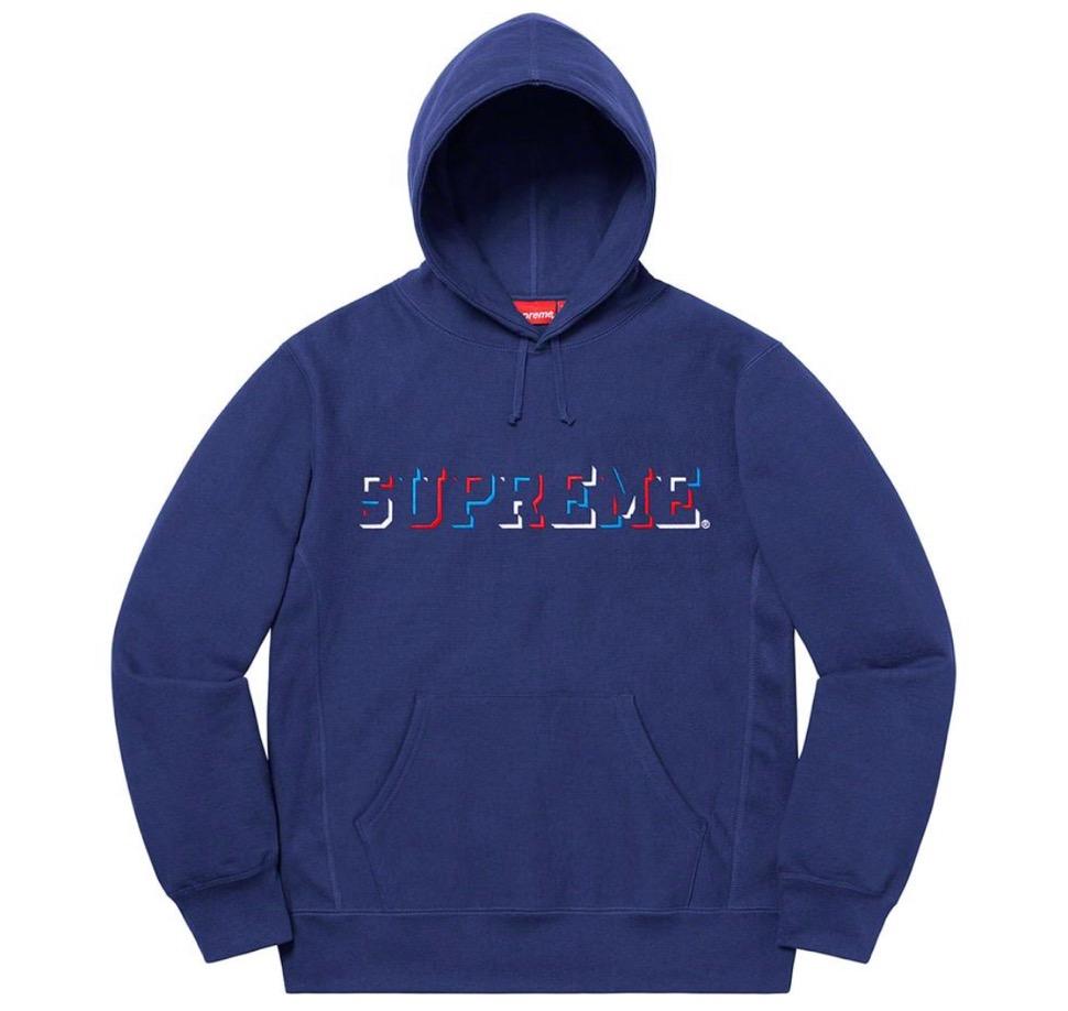シュプリーム ドロップ シャドー フーディ Supreme 2020fw week8 Drop Shadow Hooded Sweatshirt