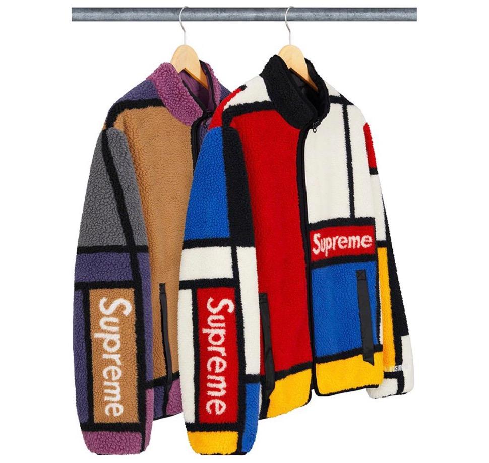 シュプリーム リバーシブル カラーブロック フリース ジャケット Supreme 2020fw week8 Reversible Colorblocked Fleece Jacket