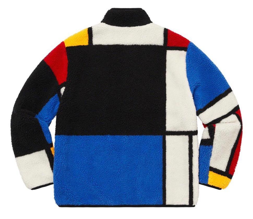 シュプリーム リバーシブル カラーブロック フリース ジャケット Supreme 2020fw week8 Reversible Colorblocked Fleece Jacket white back