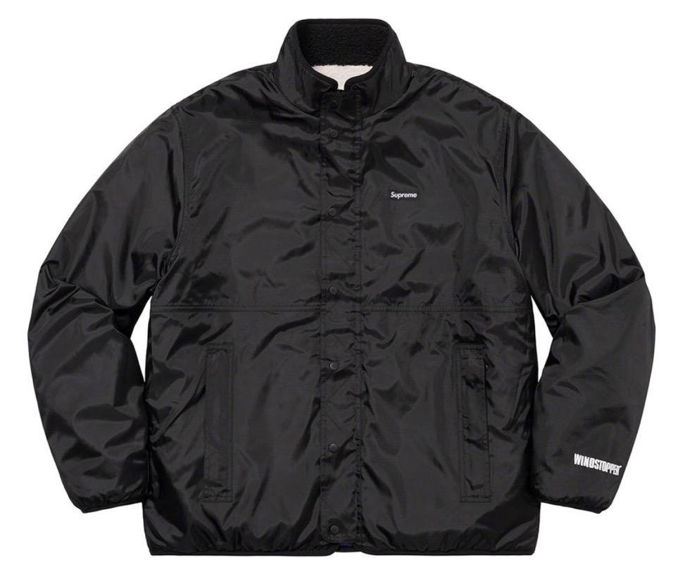 シュプリーム リバーシブル カラーブロック フリース ジャケット Supreme 2020fw week8 Reversible Colorblocked Fleece Jacket white black