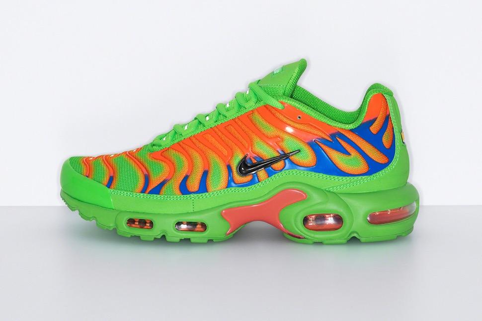 シュプリーム 最新 新作 ナイキ コラボ スニーカー Supreme Nike 2020fw week8 sneaker green side