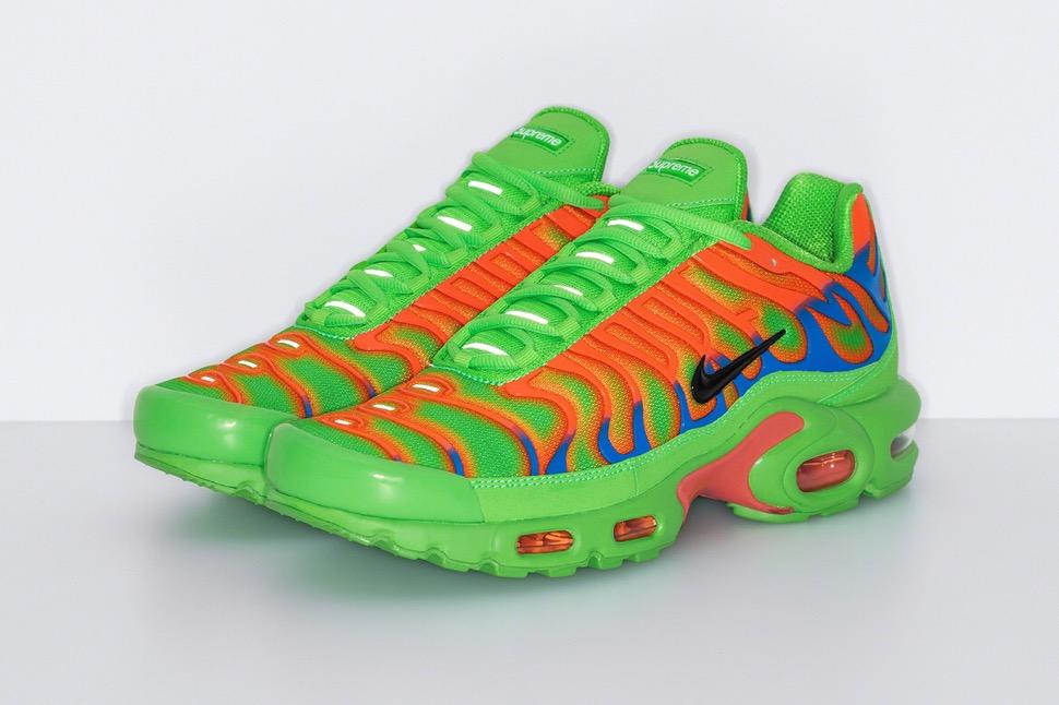 シュプリーム 最新 新作 ナイキ コラボ スニーカー Supreme Nike 2020fw week8 sneaker green pair
