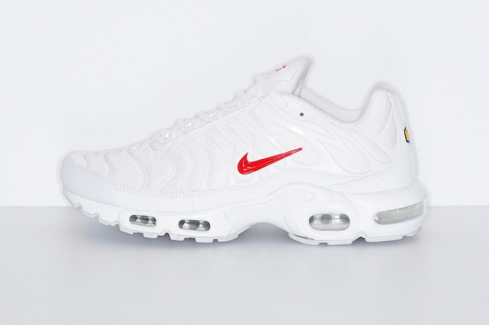 シュプリーム 最新 新作 ナイキ コラボ スニーカー Supreme Nike 2020fw week8 sneaker white side
