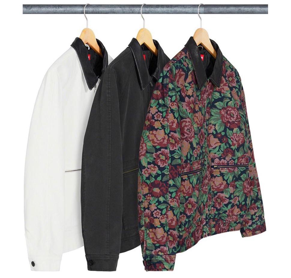 Supreme 2020fw week9 Leather Collar Work Jacket シュプリーム 2020年 秋冬 新作 ジャケット