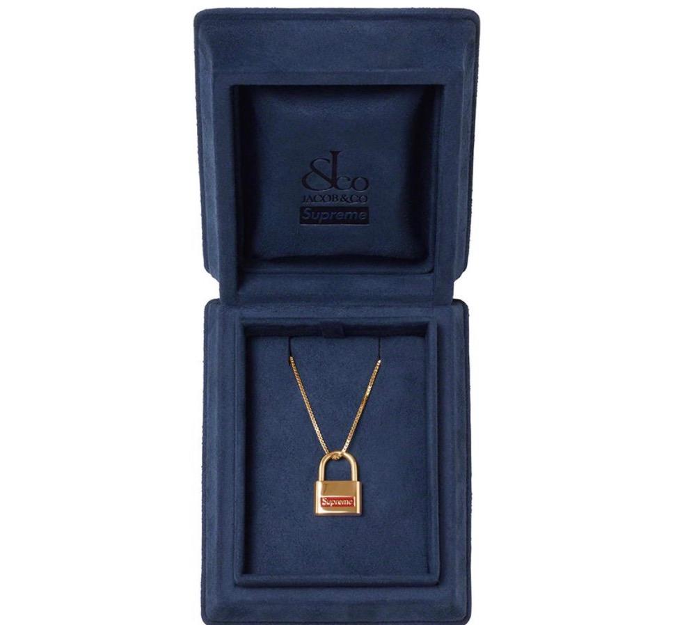 Supreme 2020fw week9 Supreme Jacob & Co. 14K Gold Lock Pendant シュプリーム 2020年 秋冬 新作 コラボ ネックレス アクセサリー