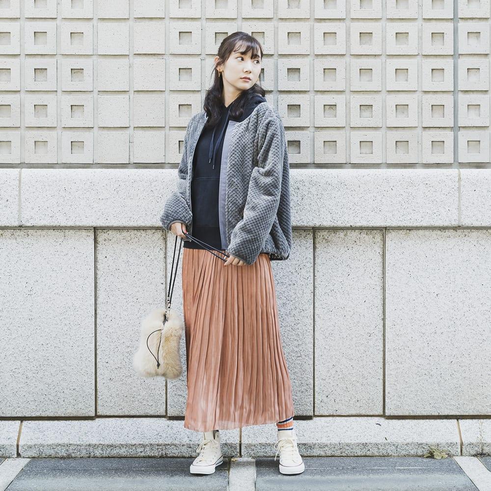 ワークマン女子 おすすめ 人気 アイテム 商品 コーディネート Workman Joshi Coodinate items ダイヤフリースシリーズ グレー
