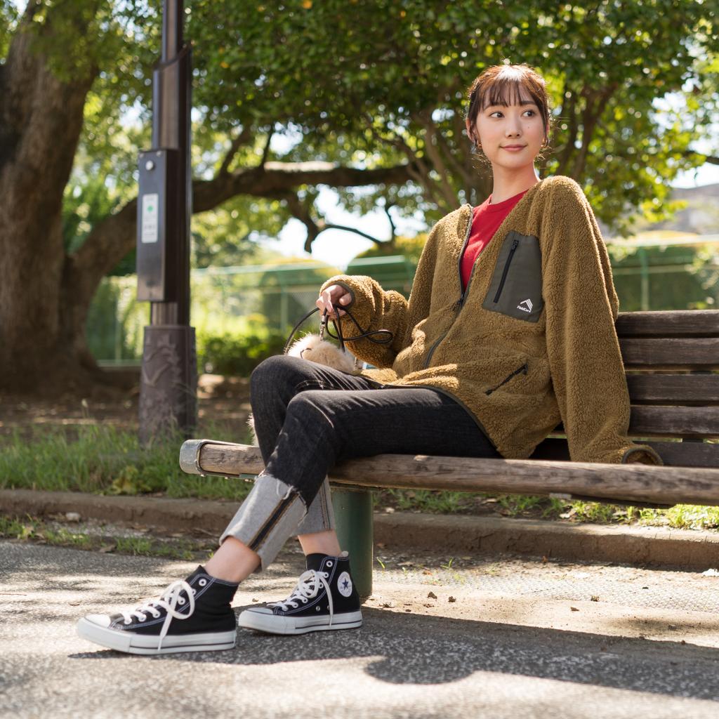 ワークマン女子 おすすめ 人気 アイテム 商品 コーディネート Workman Joshi Coodinate items ストレッチフリースノンカラージャケット