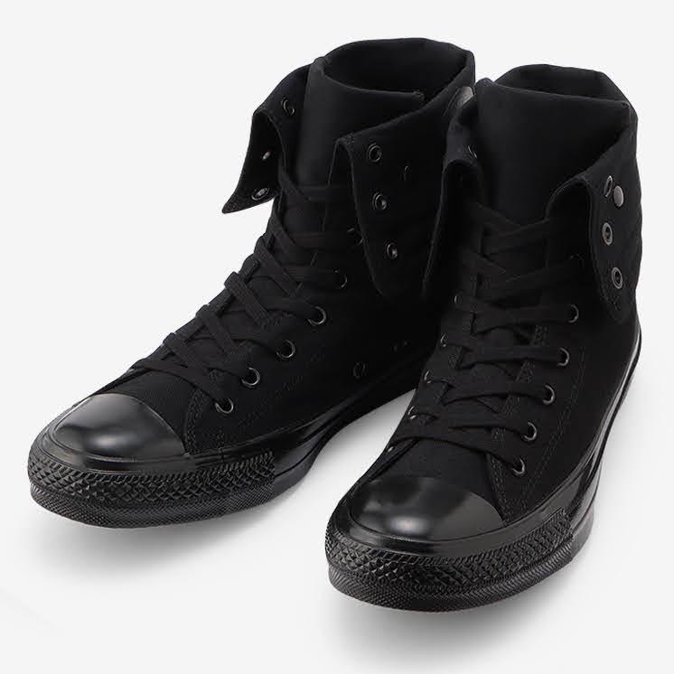 コンバース チャックテイラー オールスター US KNEE-HI ブラックモノクローム convers-chucktaylor-allstar-us-knee-hi-31303251-pair