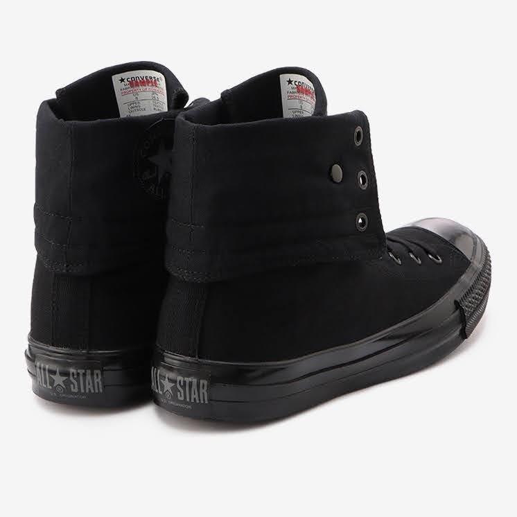 コンバース チャックテイラー オールスター US KNEE-HI ブラックモノクローム convers-chucktaylor-allstar-us-knee-hi-31303251-heel