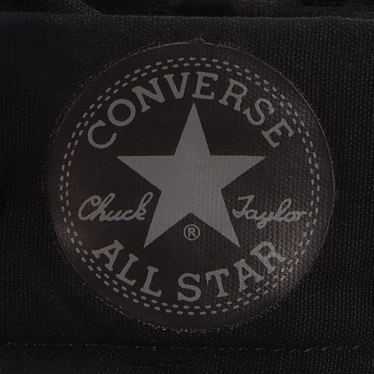 コンバース チャックテイラー オールスター US KNEE-HI ブラックモノクローム convers-chucktaylor-allstar-us-knee-hi-31303251-logo-closeup