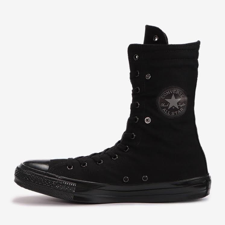 コンバース チャックテイラー オールスター US KNEE-HI ブラックモノクローム convers-chucktaylor-allstar-us-knee-hi-31303251-logo-side2