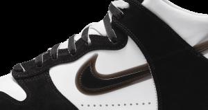 スラムジャム × ナイキ ダンク ハイ クリアブラック nike-dunk-high-x-slam-jam-clear-black-DA1639-101-side-logo-closeup
