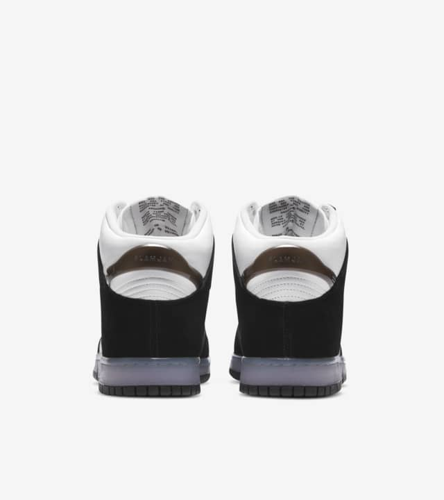 スラムジャム × ナイキ ダンク ハイ クリアブラック nike-dunk-high-x-slam-jam-clear-black-DA1639-101-pair-heel