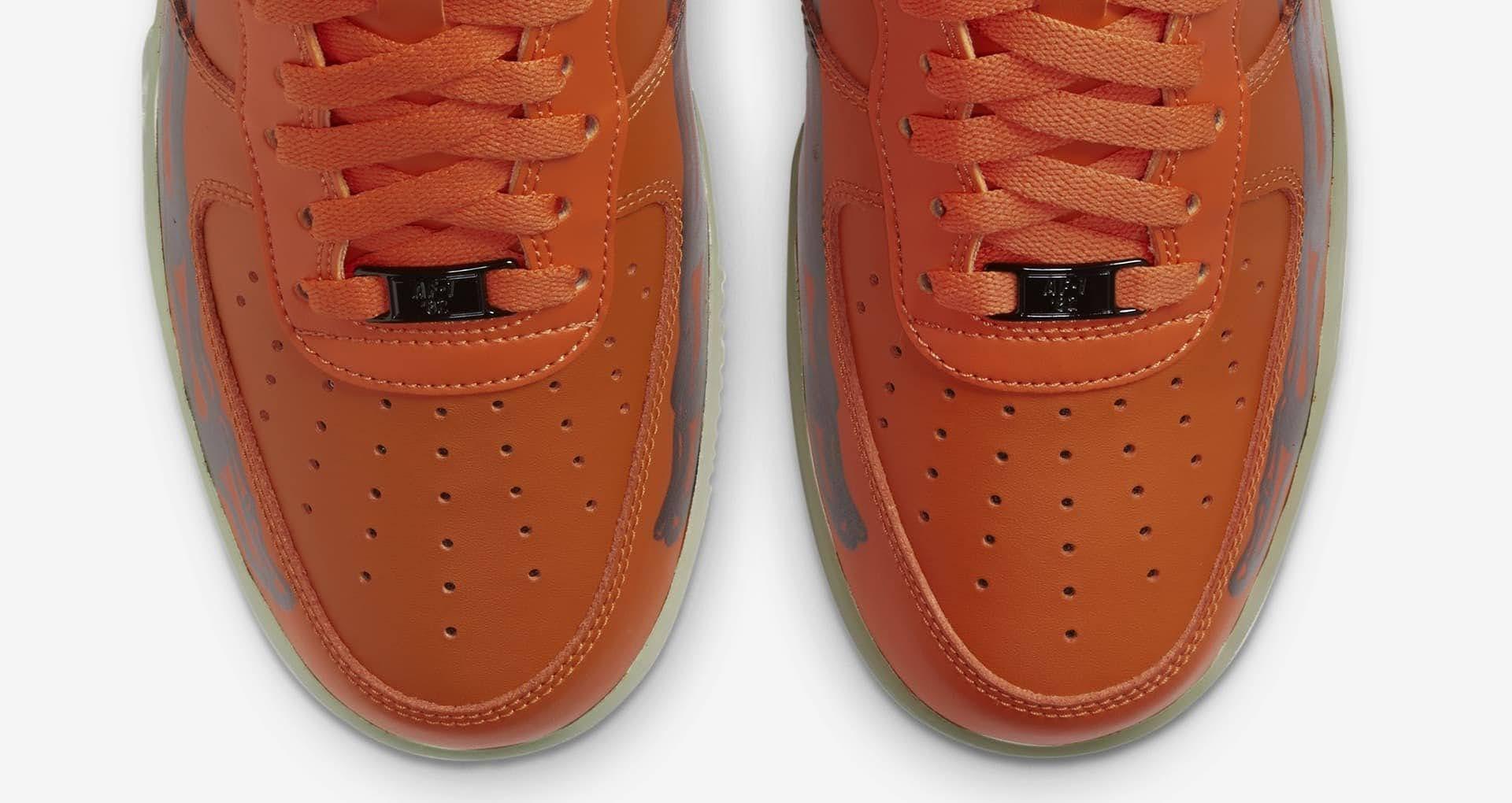 ナイキ エア フォース 1 スケルトン オレンジ nike-1-orange-af-1-skeleton-qs-cu8067-800-toe-closeup
