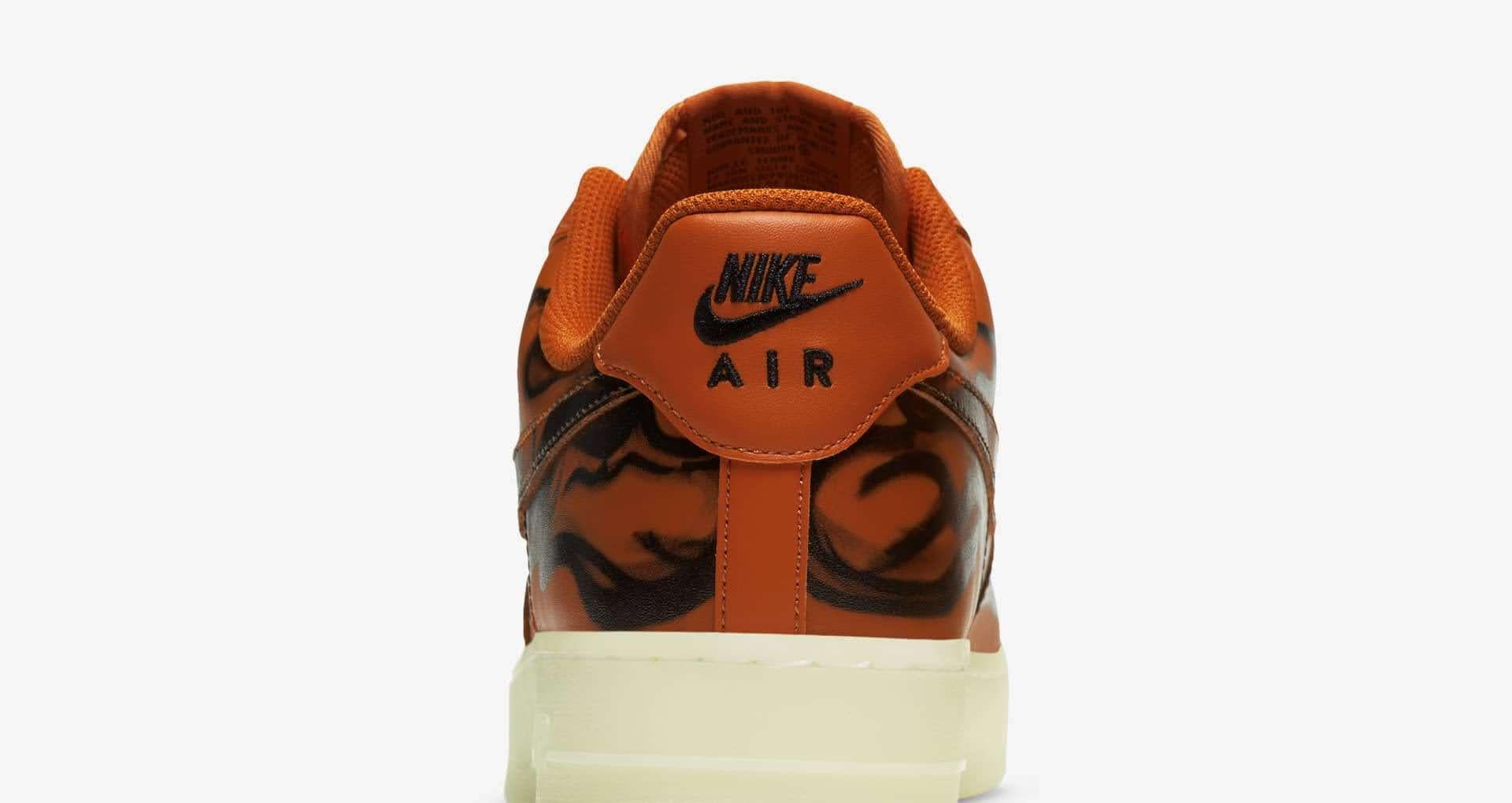 ナイキ エア フォース 1 スケルトン オレンジ nike-1-orange-af-1-skeleton-qs-cu8067-800-heel-closeup
