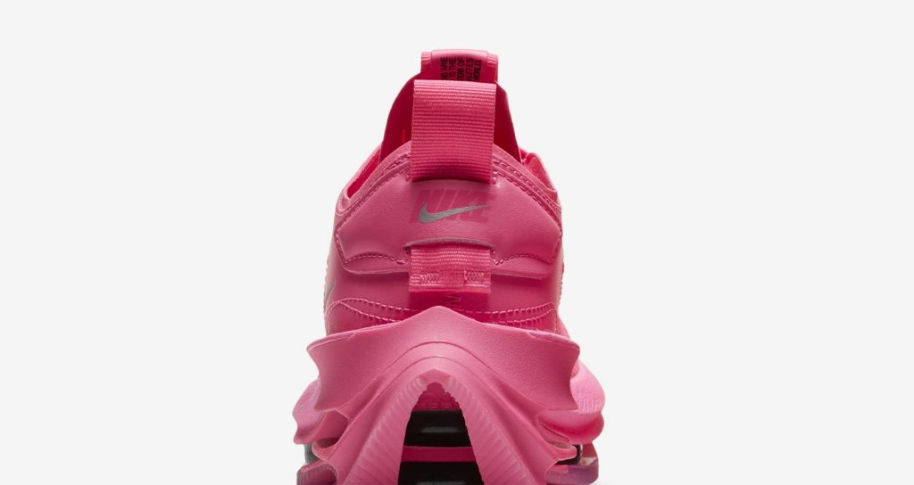 """ナイキ ウィメンズ ズーム ダブル スタックド """"ピンクブラスト"""" nike-pink-blast-cz2909-600-womens-zoom-double-stacked-heel-closeup"""