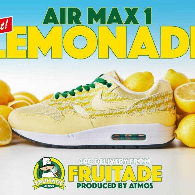 ナイキ エア マックス 1 レモネード Nike-Air-Max-1-Lemonade-by-atmos
