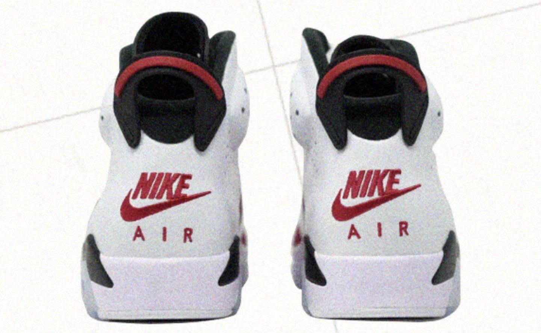 """ナイキ エア ジョーダン 6 """"カーマイン""""-Nike-2021-Air-Jordan-6-Carmine-CT8529-106-heel"""