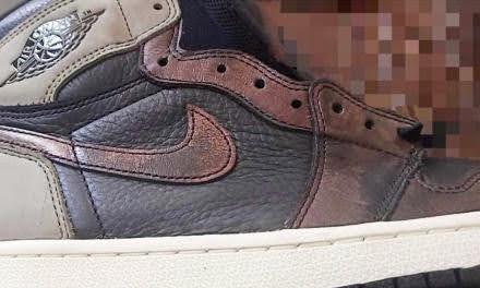 """ナイキ エア ジョーダン 1 レトロ ハイ OG """"フレッシュミント""""-Nike-Air-Jordan-1-Fresh-Mint-555088-033-side-closeup"""
