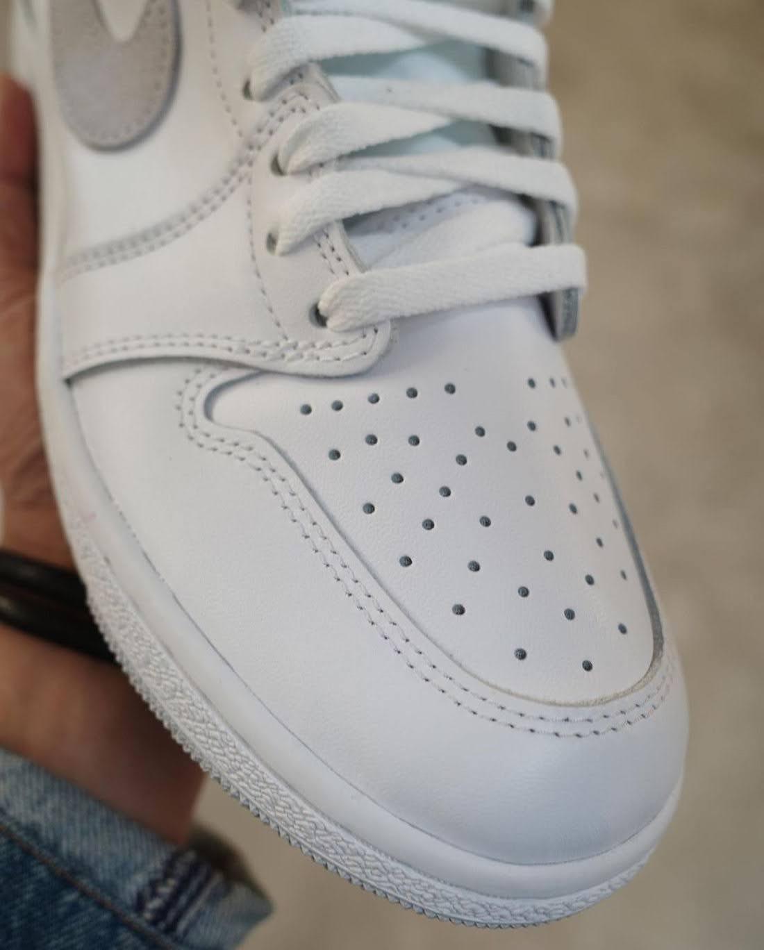 """ナイキ エアジョーダン1 ハイ 85 """"ニュートラルグレー""""-Nike-Air-Jordan-1-High-85-Neutral-Grey-BQ4422-100-2021-toe-closeup"""