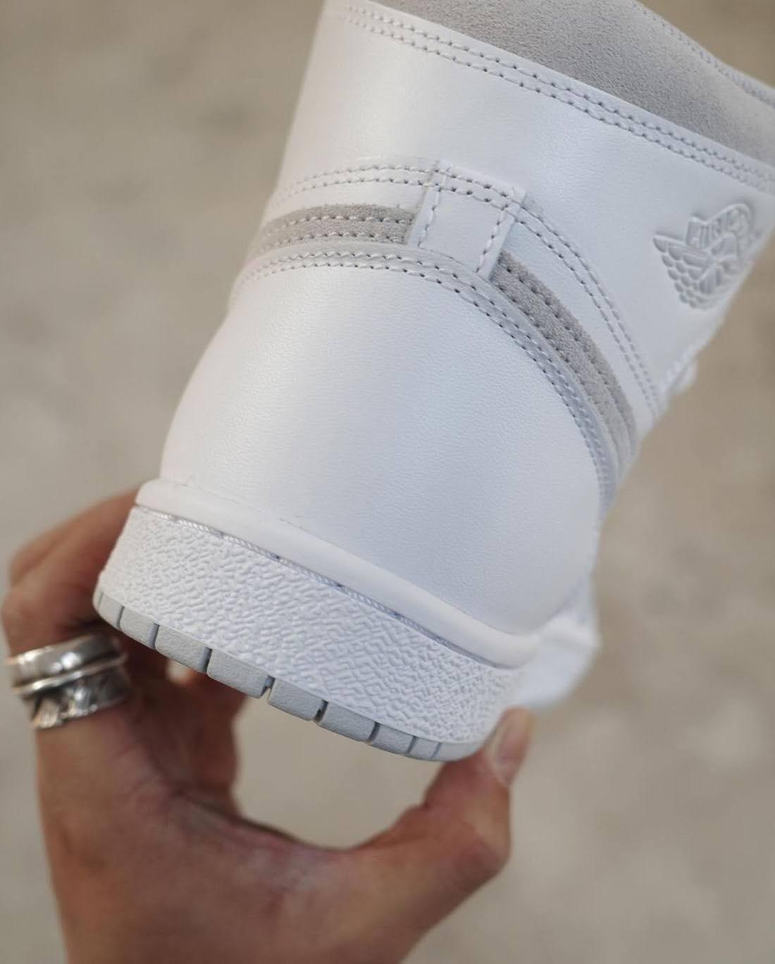 """ナイキ エアジョーダン1 ハイ 85 """"ニュートラルグレー""""-Nike-Air-Jordan-1-High-85-Neutral-Grey-BQ4422-100-2021-heel"""