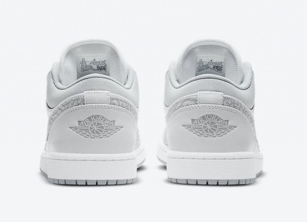 """ナイキ エア ジョーダン 1 ロー PRM """"エレファントプリント""""-Nike-Air-Jordan-1-Low-PRM-Elephant-Print-DH4269-100-heel"""