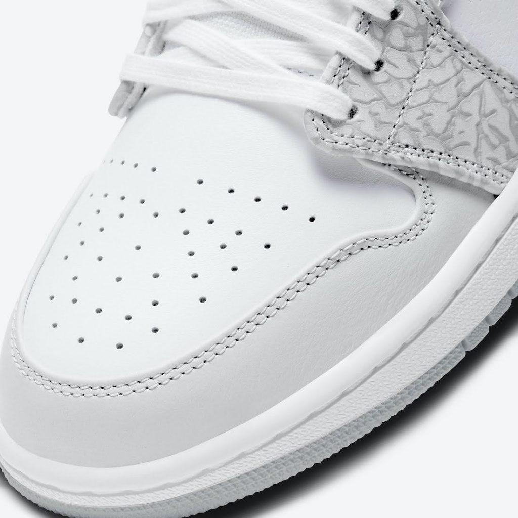 """ナイキ エア ジョーダン 1 ロー PRM """"エレファントプリント""""-Nike-Air-Jordan-1-Low-PRM-Elephant-Print-DH4269-100-toe-closeup"""