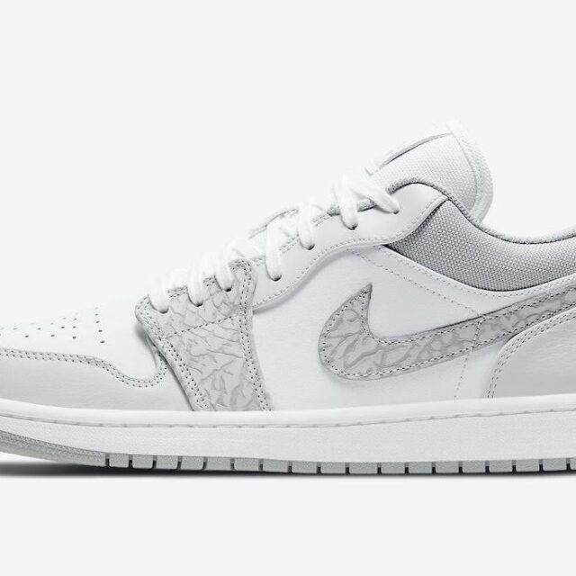"""ナイキ エア ジョーダン 1 ロー PRM """"エレファントプリント""""-Nike-Air-Jordan-1-Low-PRM-Elephant-Print-DH4269-100-side"""