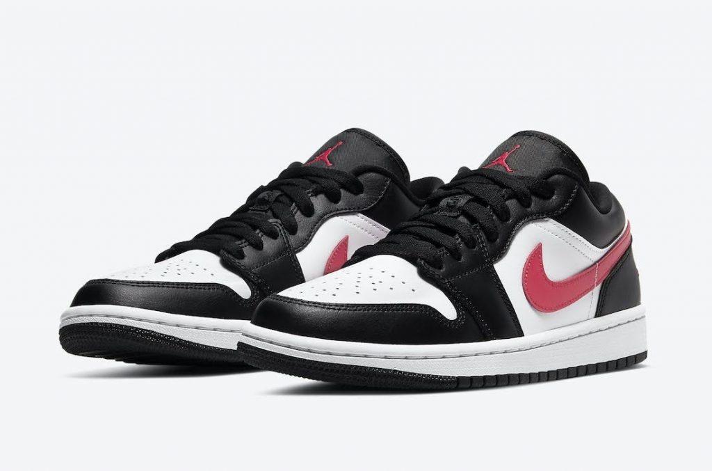 """ナイキ ウィメンズ エア ジョーダン 1 ロー """"サイレン レッド"""" Nike-Air-Jordan-1-Low-Siren-Red-DC0774-004-pair"""