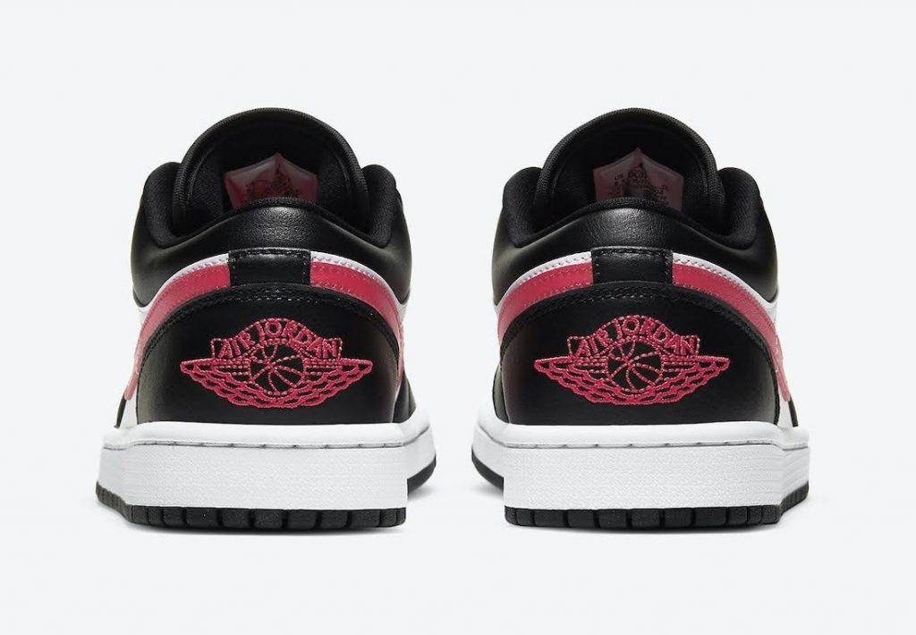 """ナイキ ウィメンズ エア ジョーダン 1 ロー """"サイレン レッド"""" Nike-Air-Jordan-1-Low-Siren-Red-DC0774-004-heel"""