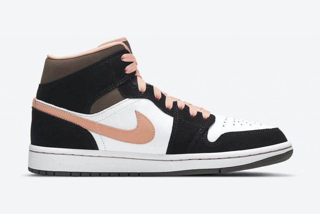 """ナイキ エア ジョーダン 1 ミッド """"ピーチ & モカ-Nike-Air-Jordan-1-Mid-DH0210-100-side2"""