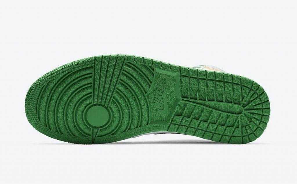 """ナイキ エア ジョーダン 1 ミッド SE """"オークランド""""-Nike-Air-Jordan-1-Mid-SE-White-Black-Green-Yellow-852542-101-sole"""