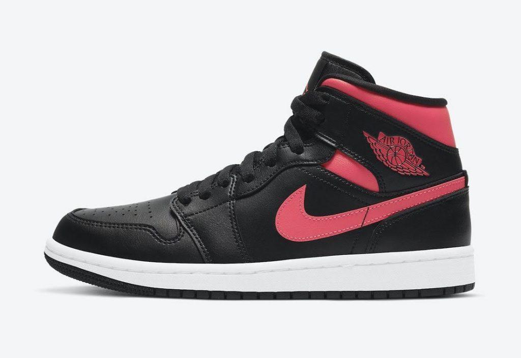 """ナイキ ウィメンズ エア ジョーダン 1 ミッド """"サイレン レッド"""" Nike-Air-Jordan-1-Mid-Siren-Red-BQ6472-004-side"""