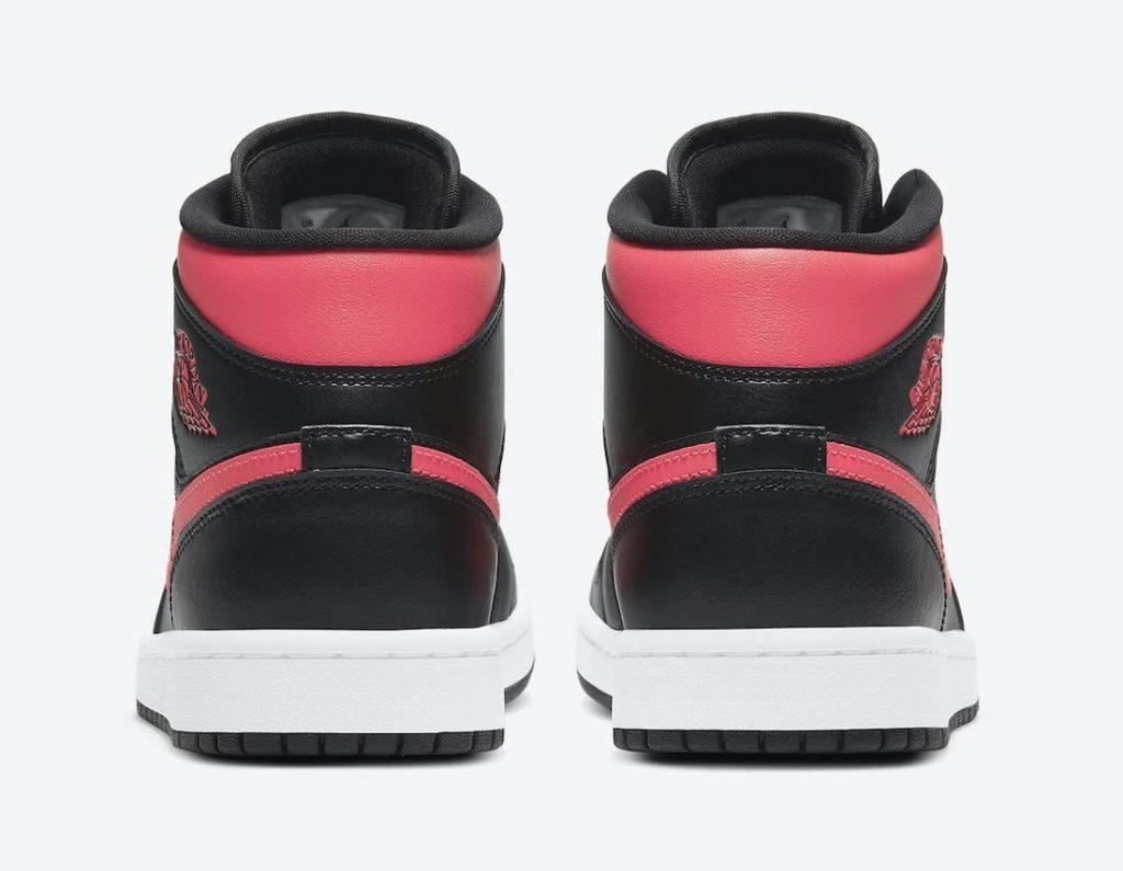 """ナイキ ウィメンズ エア ジョーダン 1 ミッド """"サイレン レッド"""" Nike-Air-Jordan-1-Mid-Siren-Red-BQ6472-004-heel"""