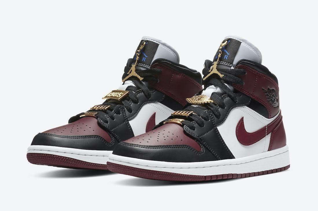 ナイキ ウィメンズ エア ジョーダン 1 マルーン アクセサリー チャーム Nike-WMNS-Air-Jordan-1-Mid-SE-CZ4385-016
