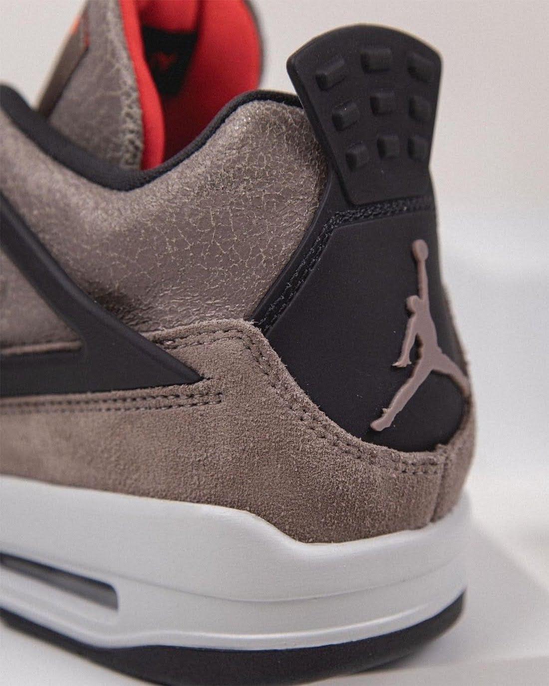 """ナイキ エア ジョーダン 4 """"タープヘイズ""""-Air-Jordan-4-Taupe-Haze-DB0732-200-Release-Date-heel-detail"""