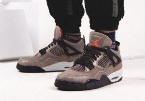 """ナイキ エア ジョーダン 4 """"タープヘイズ""""-Air-Jordan-4-Taupe-Haze-DB0732-200-Release-Date-On-Feet"""