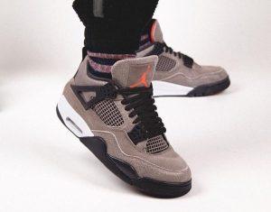 """ナイキ エア ジョーダン 4 """"タープヘイズ""""-Air-Jordan-4-Taupe-Haze-DB0732-200-Release-Date-On-Feet3"""