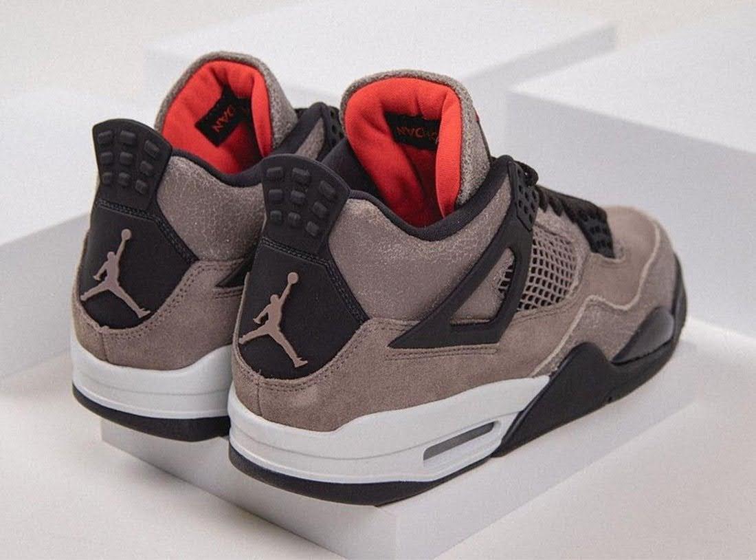 """ナイキ エア ジョーダン 4 """"タープヘイズ""""-Air-Jordan-4-Taupe-Haze-DB0732-200-Release-Date-pair-heel"""