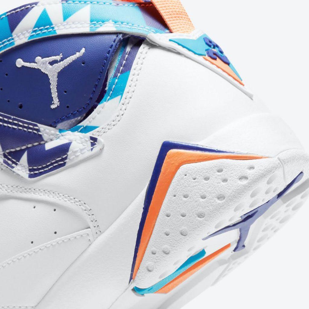"""ナイキ エア ジョーダン 7 GS """"クローリンブルー"""" Nike-Air-Jordan-7-GS-White-Chlorine-Blue-442960-100-8-heel-closeup"""