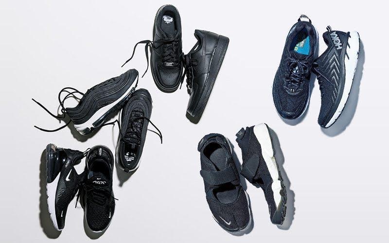 ブラック 黒 スニーカー レディース おすすめ モデル ブランド Black-Sneakers-for-Women