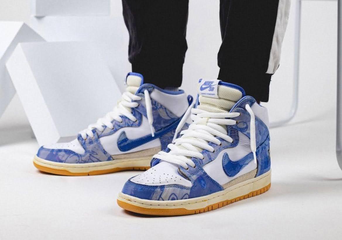 カーペット カンパニー × ナイキ SB ダンク ハイ Carpet-Company-x-Nike-SB-Dunk-High-CV1677-100-pair-on-foot