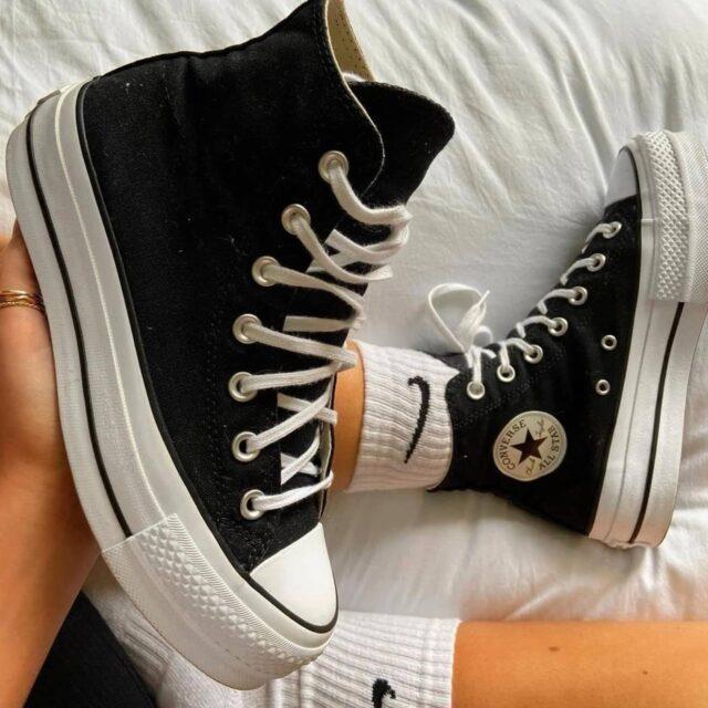 スニーカー ウィメンズ レディース 人気 おすすめ Converse-All-Star-Sneakers-for-women black