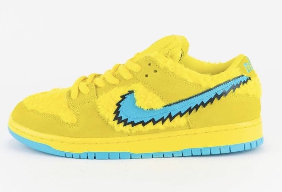 Nike SB Dunk Low Grateful Dead Bears Opti Yellow (CJ5378-700)-Grateful-Dead-Bears-Nike-SB-Dunk-Low-Yellow-Bear-CJ5378-700