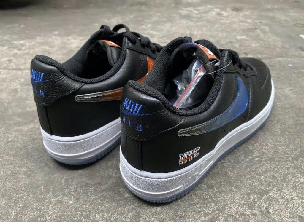 """キス x ナイキ エア フォース 1 ロー """"NYC""""-Kith-Nike-Air-Force-1-Low-NYC-Black-CZ7928-001-pair-back"""